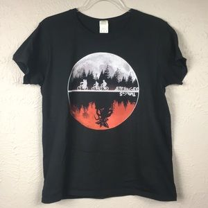 Stranger Things Graphic T-Shirt Size Medium Black